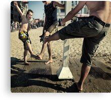 Beach Dances Canvas Print