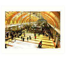 Entering Stockholm Station Art Print