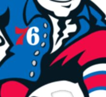 Philadelphia 76'ers Benjamin Franklin 2015-2016 Logo Sticker