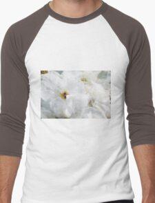 White Roses of Summer Men's Baseball ¾ T-Shirt