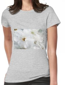 White Roses of Summer Womens Fitted T-Shirt