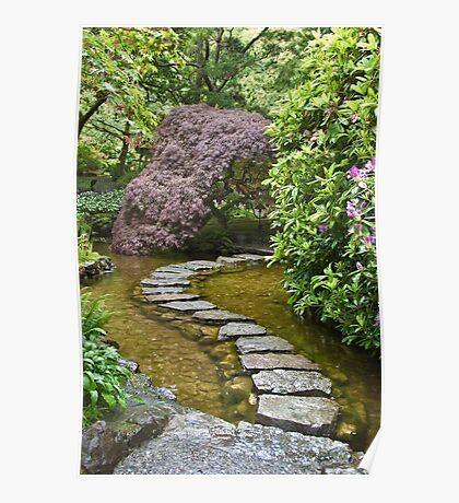 Japanese Garden, Butchart Gardens, Victoria, B.C. Poster