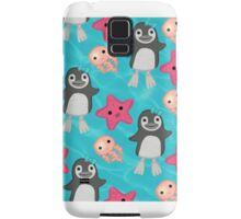 ocean penguins and jelly fish Samsung Galaxy Case/Skin