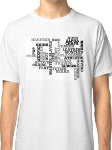 Wordle Fetish Gay Classic T-Shirt