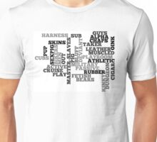 Wordle Fetish Gay Unisex T-Shirt