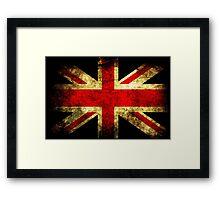 UK Grunge Flag Framed Print
