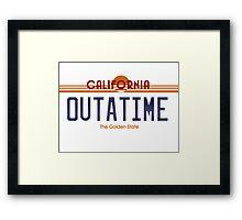 Outatime Framed Print