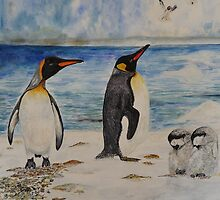 PLAY IT COOL! watercolour by Marilyn Grimble