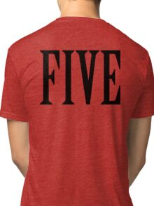 5, FIVE, NUMBER 5, FIFTH, TEAM SPORTS, Competition, BLACK Tri-blend T-Shirt