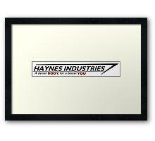 Haynes Industries Logo Framed Print