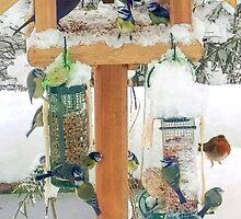 Christmas bird table 2 by missmoneypenny