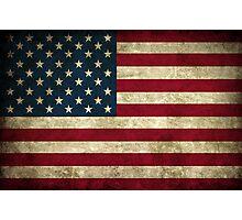 USA Grunge Flag Photographic Print