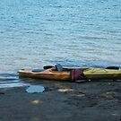 kayak on a lake  by cozboz