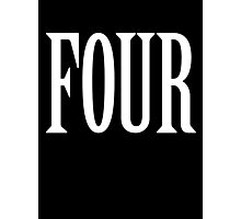 FOUR, 4, TEAM SPORTS, NUMBER 4, FOURTH, Competition, WHITE Photographic Print