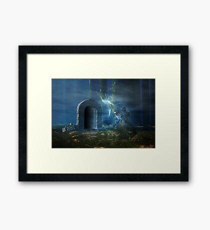 Dark doorway Framed Print
