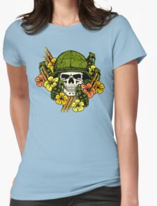 Tropical Print (Military Edition) Womens Fitted T-Shirt