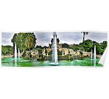 Fontaine du parc de La Ciutadella Poster