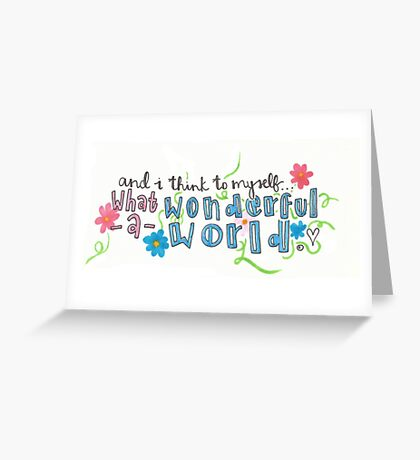 What a Wonderful World Greeting Card