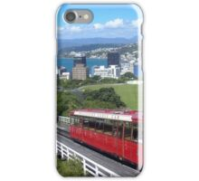 Wellington cable car city view iPhone Case/Skin