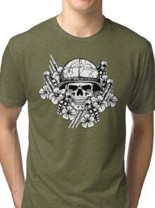 Tropical Print (Military Edition) BW Tri-blend T-Shirt