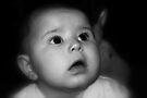 Portrait Of Baby in B&W by Evita