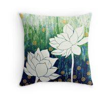 Lotus Blooms II Throw Pillow