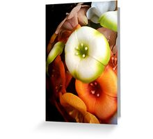 Floral Crescent Greeting Card