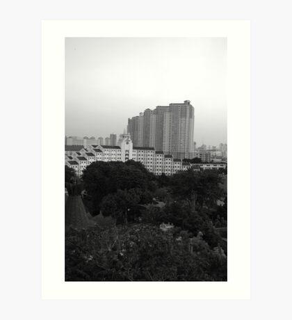 apartment building Art Print