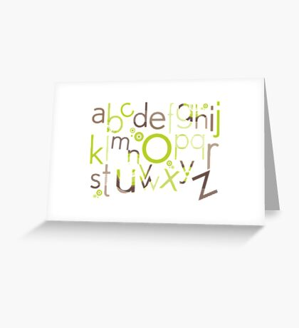 TYPOGRAPHY :: trendy alphabet 1 Greeting Card