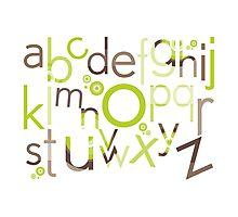 TYPOGRAPHY :: trendy alphabet 1 Photographic Print