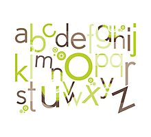 TYPOGRAPHY :: trendy alphabet 1 Photographic Print