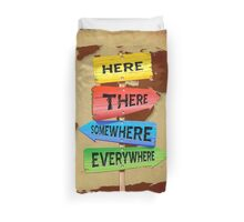 Directions Panels Wanderlust Duvet Cover