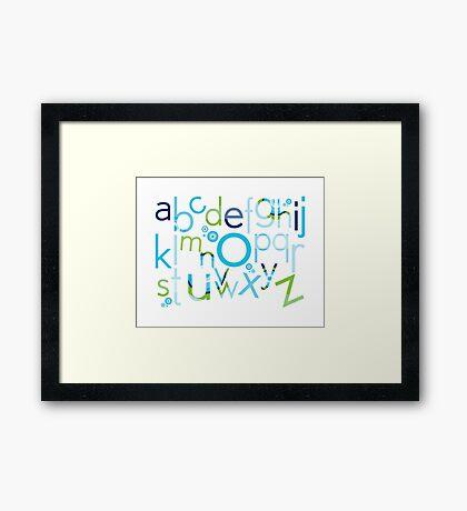 TYPOGRAPHY :: trendy alphabet 2 Framed Print