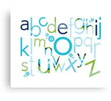 TYPOGRAPHY :: trendy alphabet 2 Canvas Print