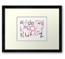 TYPOGRAPHY :: trendy alphabet 3 Framed Print