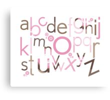 TYPOGRAPHY :: trendy alphabet 3 Canvas Print