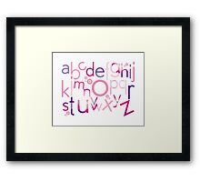 TYPOGRAPHY :: trendy alphabet 4 Framed Print