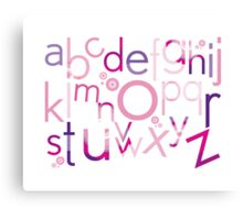 TYPOGRAPHY :: trendy alphabet 4 Canvas Print