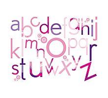 TYPOGRAPHY :: trendy alphabet 4 Photographic Print