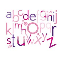 TYPOGRAPHY :: trendy alphabet 4 Photographic Print