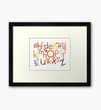 TYPOGRAPHY :: trendy alphabet 5 Framed Print