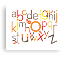 TYPOGRAPHY :: trendy alphabet 5 Canvas Print