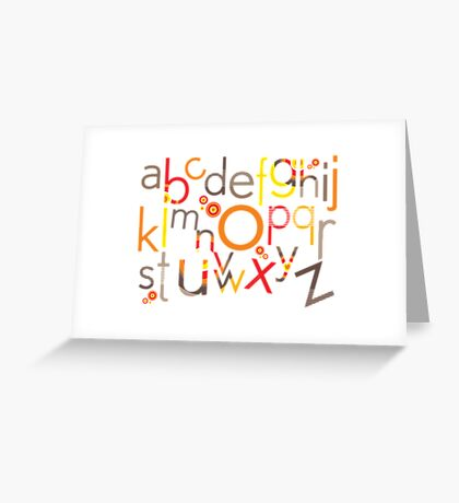 TYPOGRAPHY :: trendy alphabet 5 Greeting Card