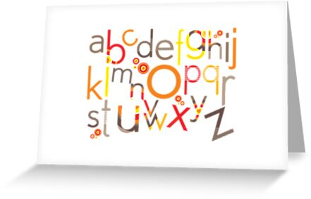 TYPOGRAPHY :: trendy alphabet 5 by Kat Massard