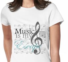 Music Is My Escape Womens Fitted T-Shirt