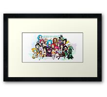 League of Legends chibi group - Watercolour Framed Print