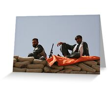 Two Afghan soldiers at war Greeting Card