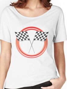 race flags Women's Relaxed Fit T-Shirt