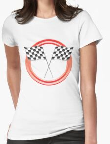 race flags Womens Fitted T-Shirt
