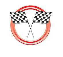 race flags Photographic Print